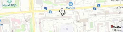 Магазин детской обуви на карте Воронежа