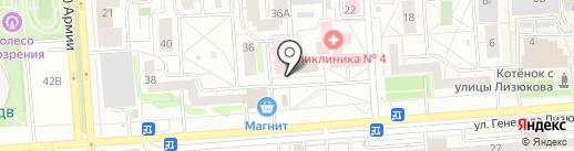 Алюстрой на карте Воронежа