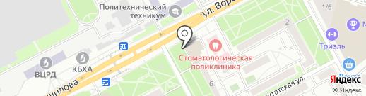 Мастерская по ремонту одежды на карте Воронежа