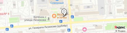 Киоск по ремонту обуви на карте Воронежа
