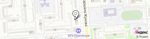 La plus belle на карте Воронежа