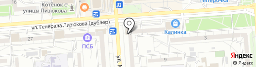 Пирамида на карте Воронежа