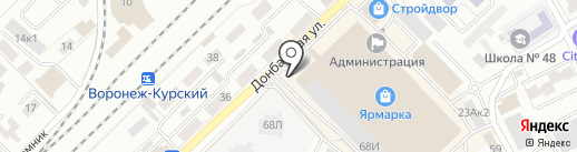 Двери Холл на карте Воронежа