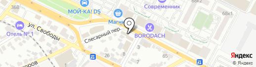 Лоза на карте Воронежа