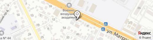 Клуб Четырёх на карте Воронежа