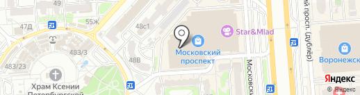 Банкомат, Бинбанк, ПАО на карте Воронежа