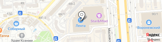 Ауlin на карте Воронежа