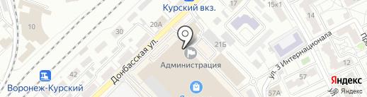 Бастион на карте Воронежа