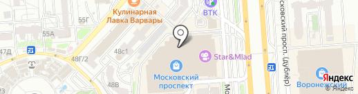 Курочка с нами на карте Воронежа