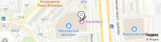 Евросеть на карте Воронежа