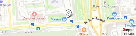 Солодок на карте Воронежа