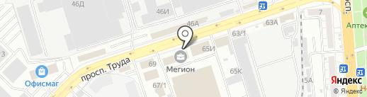 Страж на карте Воронежа