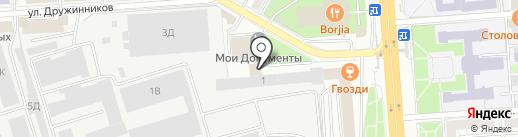 Тенториум на карте Воронежа