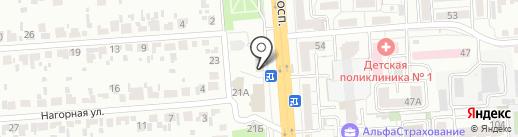 Киоск по продаже цветов на карте Воронежа