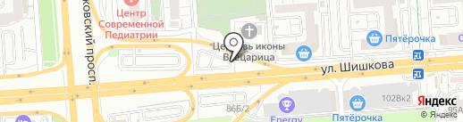 Золотой гвоздь на карте Воронежа