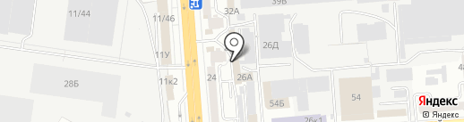 Светлячок на карте Воронежа