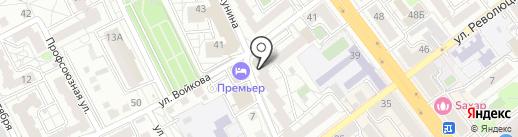 Солнечный Дом на карте Воронежа