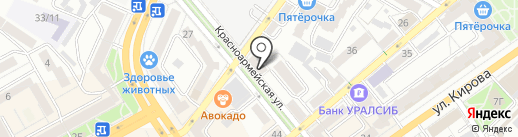 База технических услуг на карте Воронежа