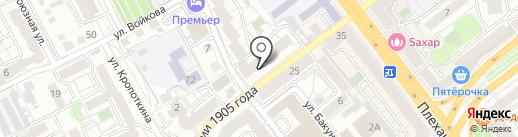 Voger на карте Воронежа