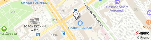 Ip chino на карте Воронежа