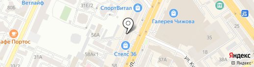 Совкомбанк, ПАО на карте Воронежа
