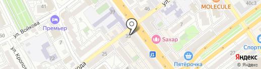 Мир пальто на карте Воронежа