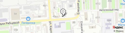 Autolavaggio на карте Воронежа