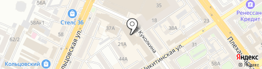 SOLO на карте Воронежа