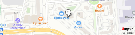 Машенька на карте Воронежа