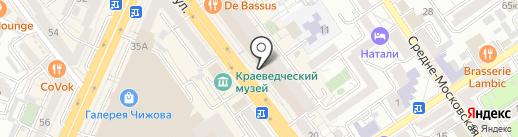 Театрально-концертная касса на карте Воронежа