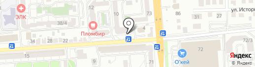 Мой гараж на карте Воронежа