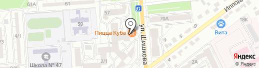 ЭТМ на карте Воронежа
