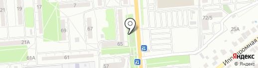 Славянка на карте Воронежа