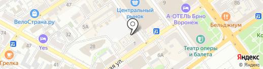 Экона на карте Воронежа