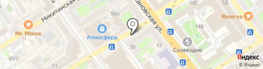 Киоск по продаже печатной продукции на карте Воронежа