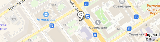 Кондитерский магазин на карте Воронежа