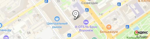 Интер АнтикварЪ на карте Воронежа