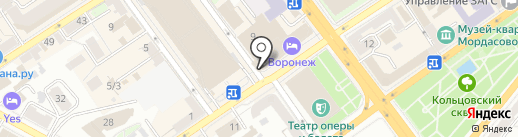 Триколор ТВ на карте Воронежа