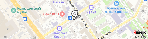 Брусника на карте Воронежа