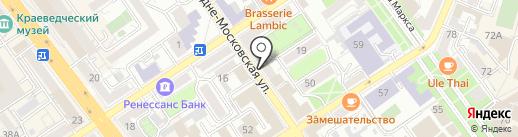 Планетарий на карте Воронежа