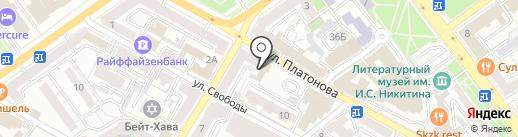 Orange Business Services на карте Воронежа