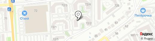 Подрастайка на карте Воронежа