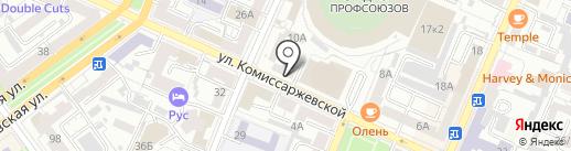 Анекс Тур на карте Воронежа