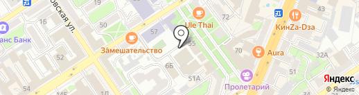 Дикая Утка на карте Воронежа