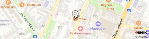 Гримерка на карте Воронежа