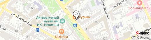 Папин Сибиряк на карте Воронежа
