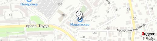 Лабиринт на карте Воронежа