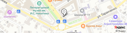 Центр страхования на карте Воронежа