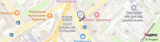 Илья Муромец на карте Воронежа