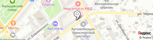 Плюшкин на карте Воронежа